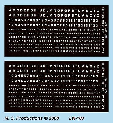 1/144 - 1/300 FOW Decals LW-100 Letters & Numbers White