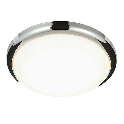 Saxby Delaware 20W 420mm Round Flush Domestic Commercial LED Wall Ceiling Light
