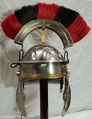 Roman Gallic Helmet - red / black horse hair plume - centurion