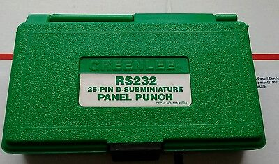 Greenlee RS232 25 Pin Connector D-Subminiature Panel Punch RS 232 #3796 As Is