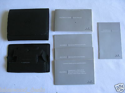 2012 INFINITI G37 COUPE OWNER'S OWNERS MANUAL SET w/QUICK REF, CASES & NAV (NQ)