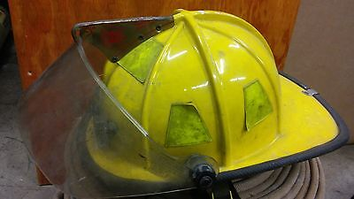Fire Fighter Traditional Style Helmet Cairns 1000 Yellow