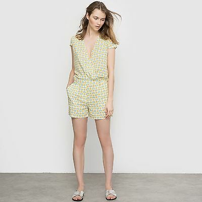 R Edition Womens Short-Sleeved Printed Playsuit
