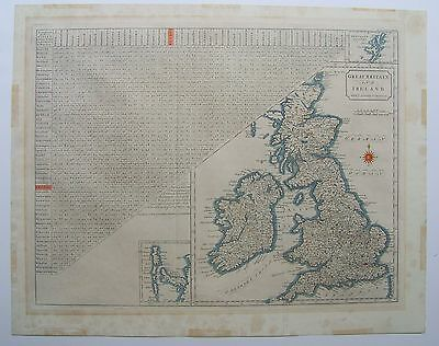 Great Britain and Ireland: antique map & distance table by John Stockdale, 1805