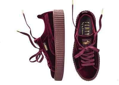 Womens Puma Rihanna Fenty Velvet  364466-02 Burgundy Red Purple Creeper 5.5-10