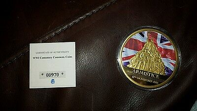 ww1 armistice commem coin with authenticity