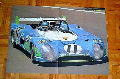 Vintage Poster Matra Simca Race Car # 11 At Le Mans In 1973 - Auto Sport Race