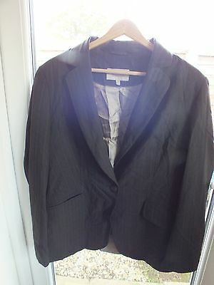 Next Women's Brown stripe trouser suit. Size 16. Stylish. Elegant. Work outfit