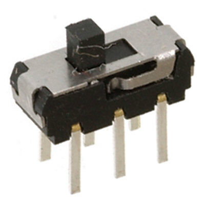 Switch Slide Min Double Pole Double Throw On-On PCB Mount 20 Volt DC @ 0. 15 pcs