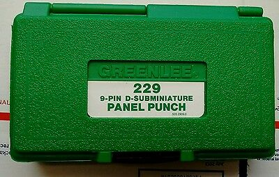 NOS? Greenlee 229 9-Pin D-Subminiature Panel Punch LkNew #3795