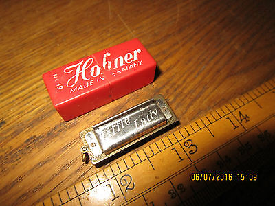 Vintage miniature Hohner 'Little Lady ' mouth organ. 3.5cm long with box
