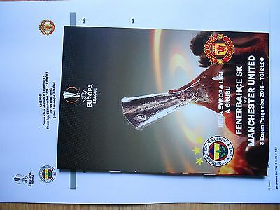 Fenerbahce-Manchester United Uefa El 2016 Match Programme Turkish+T/s