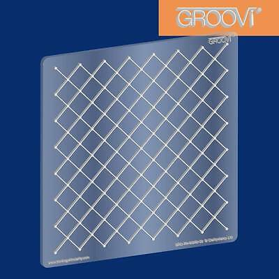 CLARITY STAMP GROOVI Parchment Embossing Plate NETTING GRO-PA-40040-03