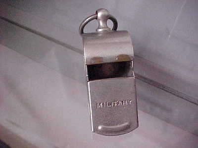 Antique solid metal Military whistle