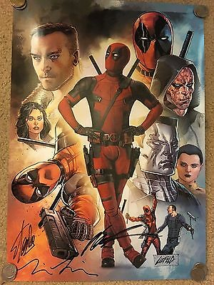 Deadpool SDCC COMIC CON SIGNED AUTOGRAPHED 13x20 POSTER STAN LEE Liefeld Miller
