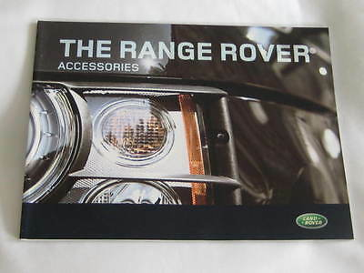 2008 Range Rover  Accessories   44 Page Brochure Large Format
