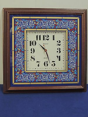 Vintage Hanover Pepsi-Cola Battery Operated Wall Clock 1998 - Works