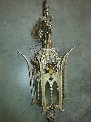 VINTAGE SPANISH or ART DECO WALL SCONCE HANGING LAMP, WALL LAMP - made in spain