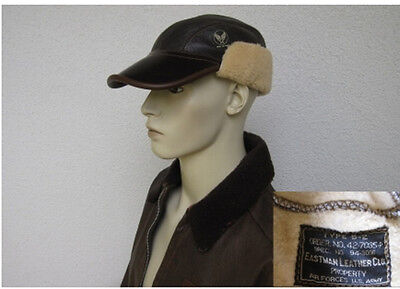 USAF B2 Eastman Pelle Cap Volo pecora Dimensioni 7 3/8 WWII US Airforce