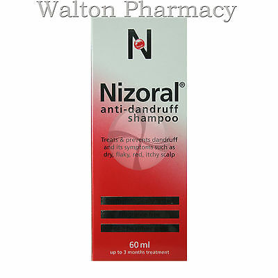 Nizoral Dandruff Shampoo, for dry, flaky, itchy, fast free delivery UK 60ml