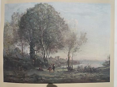Genuine Antique Corot Limited Edition Printed in 1912 Very rare beautiful print2