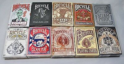10 Pack Bicycle Playing Cards Decks Rare Lot Civil War Vintage Zombies Steampunk