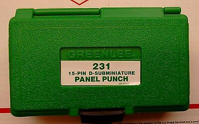 NOS? Greenlee 231 Connector Panel Punch 15 Pin D-Subminiature 34437 #3796