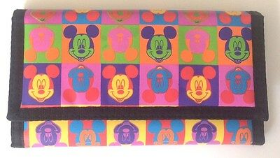 Mickey Mouse   Wallet - NWOT - Mickey Unlimited retro style pattern
