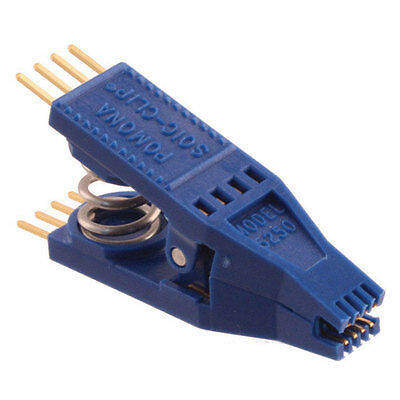 "Pomona Electronics 5250 8-Pin Gold Plated SOIC Clip Test Clip with 0.1"" Lead Spa"