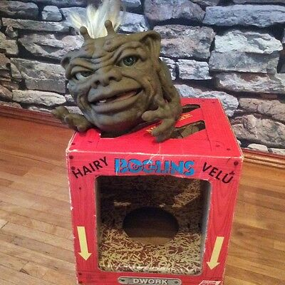 Very Rare Vintage 1987  Boglins Hairy Dwork Hand Puppet Boxed Rare