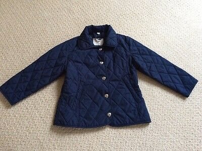 girls' navy quilted jacket, age 4