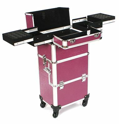 Cosmetic makeup nail hairdressing beauty vanity hair trolley case box storage ep