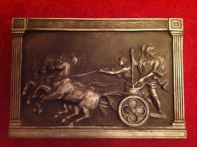 Marcus Designs plaque - Roman chariot and charioteers