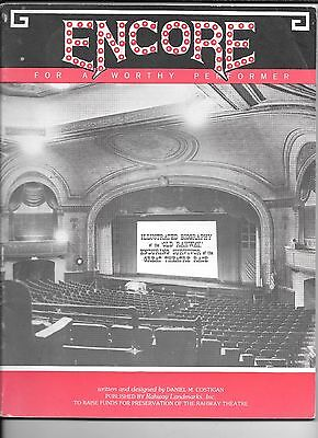 """RAHWAY NJ HISTORY of RAHWAY THEATRE  50pgs 8x10"""" BIOGRAPHY lots of PHOTOS"""