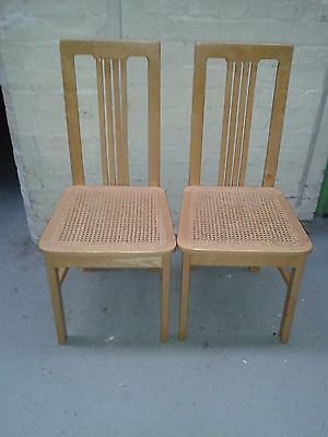 Matching Pair Tall Wooden Dining Chairs
