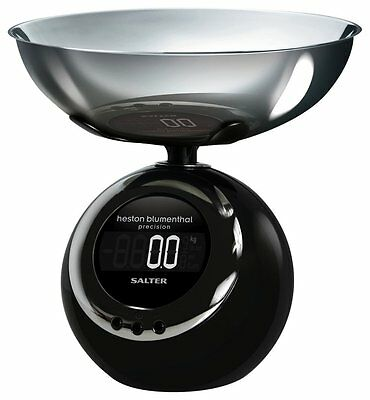 Salter Heston Blumenthal Electronic Dome Precision Kitchen Scale 5Kg LCD Screen