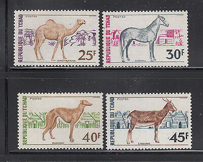 Chad 1972 Domestic Animals Sc 271-274 Complete mint never hinged