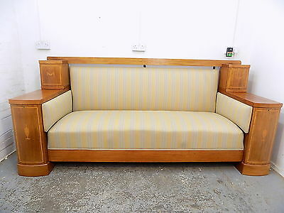 mahogany,settee,sofa,padded,inlaid,storage,wood frame,antique,large,edwardian
