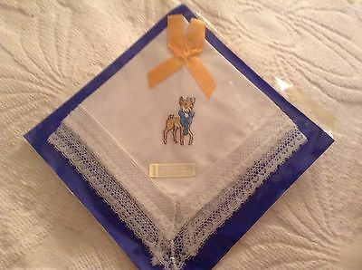 Babycham Lace Embroidered Hankerchief