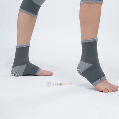1 Pc Ankle Foot Elastic Compression Sleeve Bandage Brace Support Soft Protection