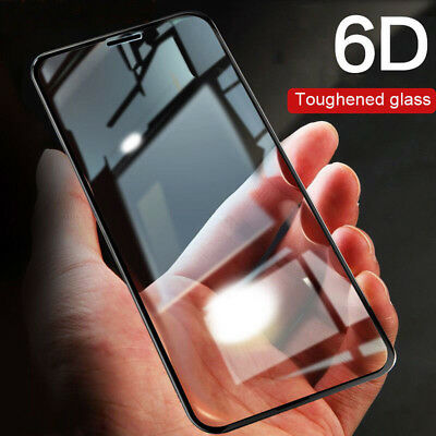 6D Curved Full Tempered Glass Coverage Protector For iPhone XS Max XR X 8 7 11