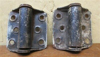2 Spring Hinges Screen Door Cabinet Vintage Window Saloon Architectural Salvage