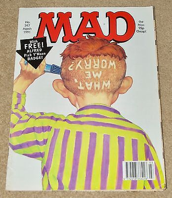 Mad Magazine March 1991 Uk Edition Issue 347 Used