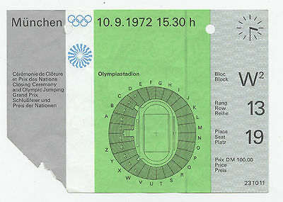 Orig.Ticket   Olympic Games MÜNCHEN 1972 - CLOSING CEREMONY  !!  RARITY