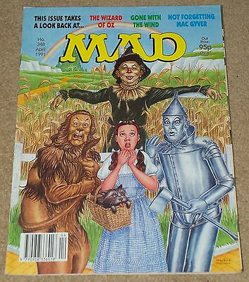 Mad Magazine April 1991 Uk Edition The Wizzard Of Oz Issue 348 Used