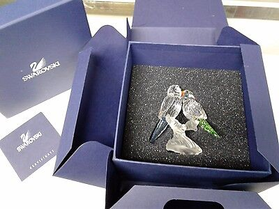 SWAROVSKI  Crystal BUDGIES LOVE BIRDS  #680627 WITH BOX AND COA