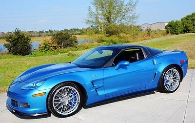 2010 Chevrolet Corvette ZR1 Coupe 2-Door 2010 Corvette ZR1 1ZR Jetstream Blue Metallic 7K Miles