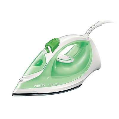 Philips GC1020/70 Green EasySpeed Iron Non-stick Soleplate 70g Steam Boost 1800W