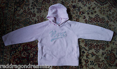 NEXT pink and silver fleece hoody AGE 7 years Good condition