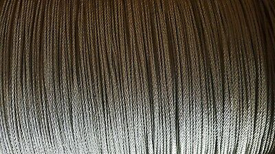 """T-304 Grade 7 x 19 Stainless Steel Cable Wire Rope 1/4""""- 100 ft"""